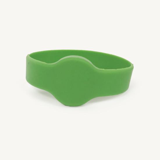 Green EM4200 125 kHz RFID Silicone Wristband