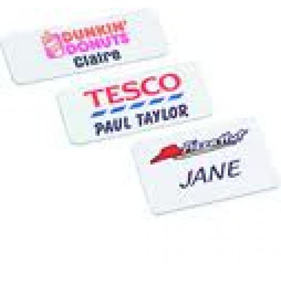 Personalised Plastic Name Badges