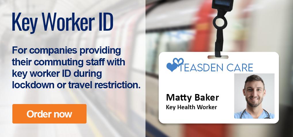 Key worker ID for commuters using public transport