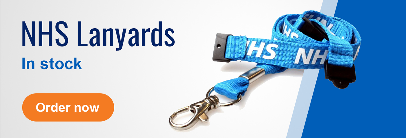 NHS Lanyards In Stock at ID Card Centre