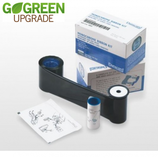 Datacard Black High Quality Printer Ribbon 532000-053 With Cleaning Card and Cleaning Roller