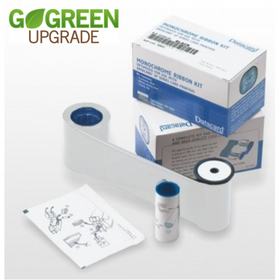 Datacard White Printer Ribbon 532000-004 With Cleaning Card and Cleaning Roller