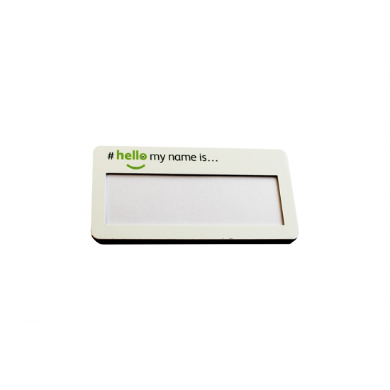 Window Name Badge with a 12mm Window