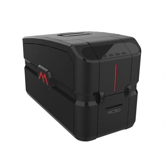 Side view of Matica MC310 direct-to-card printer
