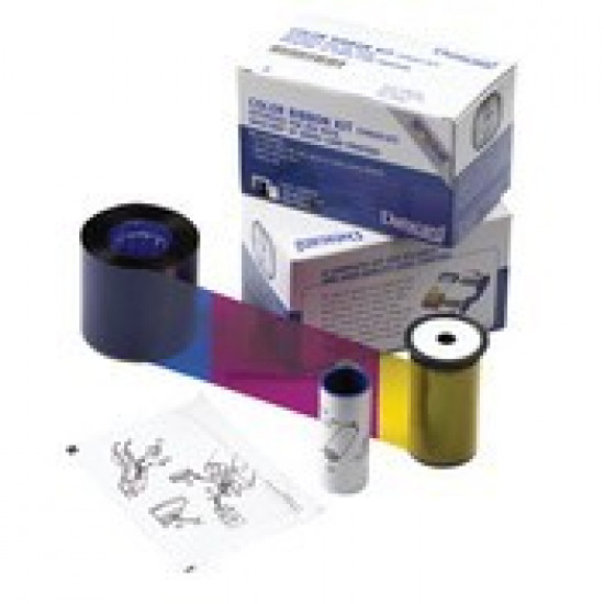 Datacard YMCKT Colour Printer Ribbon 534000-002 With Cleaning Card and Cleaning Roller