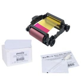 Evolis Badgy VBDG205EU Badgy Consumables Kit - 1 x colour ribbon - 100 x 30 mil Cards - 1 x cleaning kit