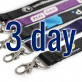 Dye Sublimation Lanyards Express Service 3 Day Delivery