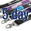 Dye Sublimation Lanyards Express Service 5 Day Delivery