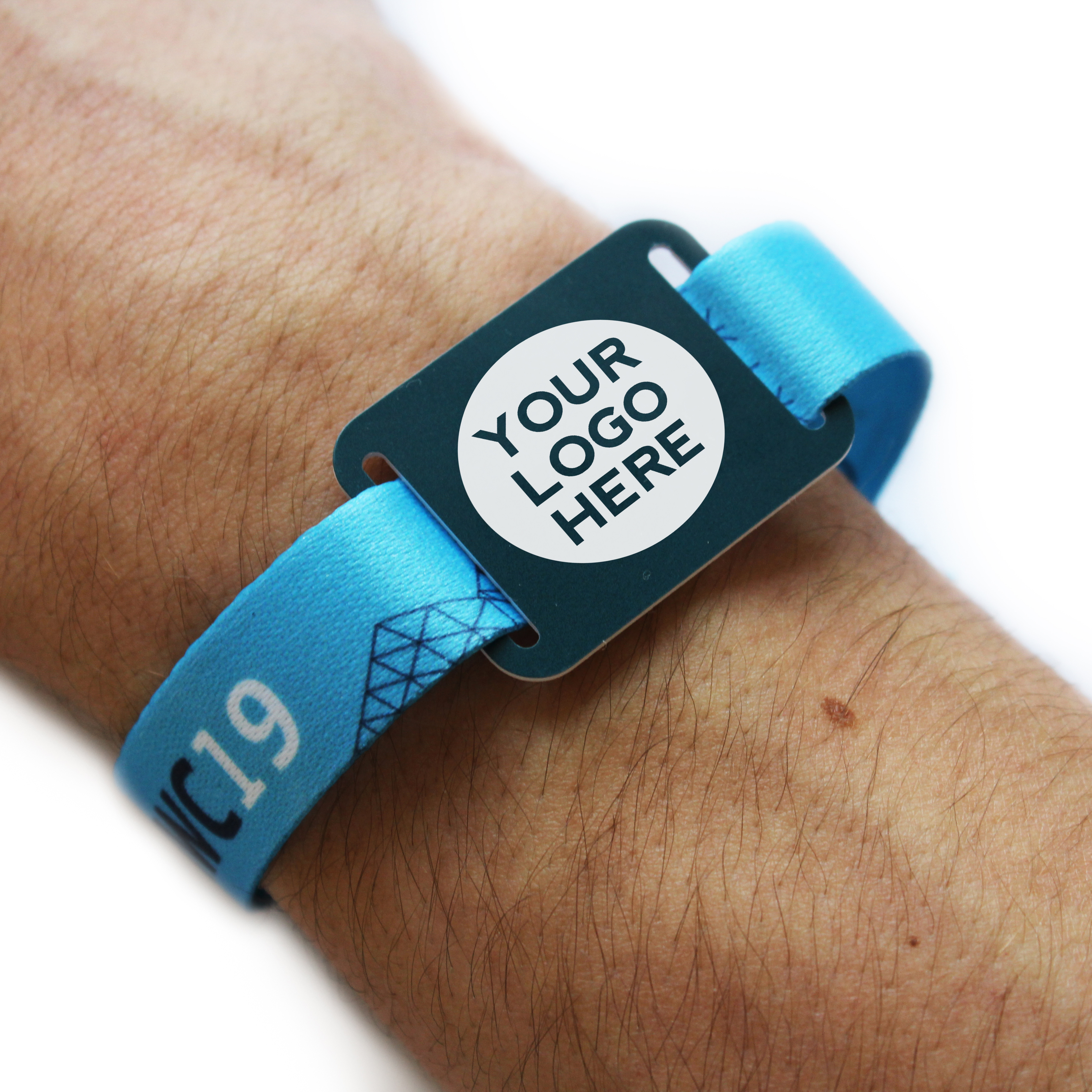 Branded woven wristbands for events