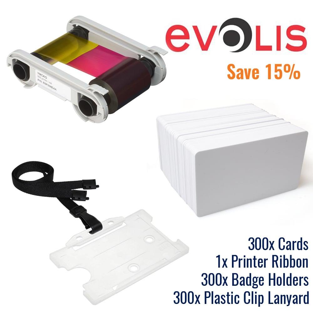 An image of Evolis Consumables Economy Bundle