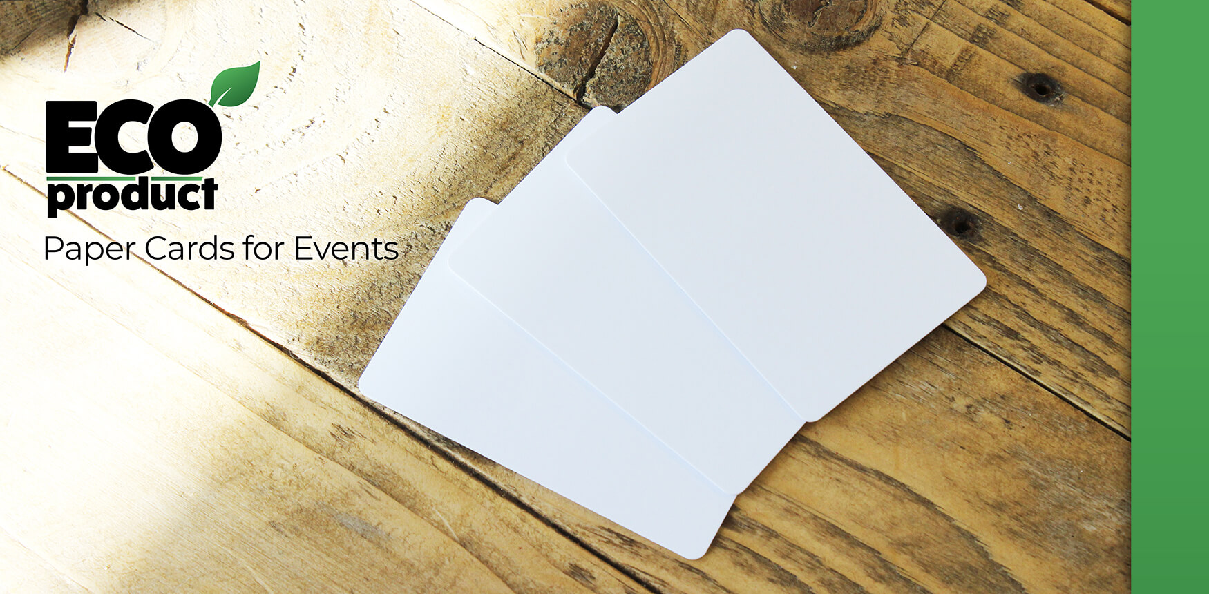 Evolis biodegradable paper cards for events