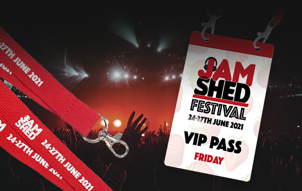 Printed XL passes for events
