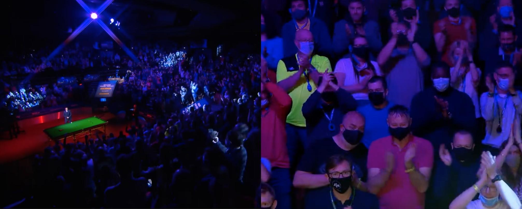 Indoor spectators returned for the 2021 Snooker World Championship