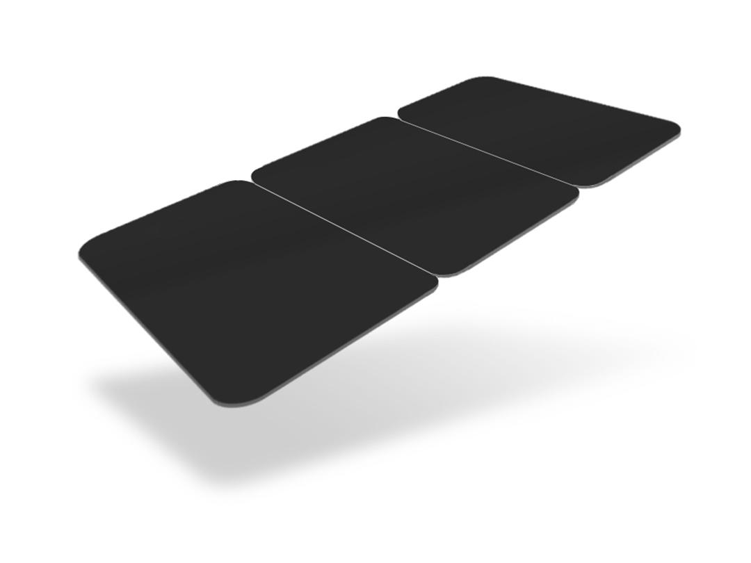 An image of 3TAG CARDS - 30MIL - Matte Black - Certified Food Safe - Pack of 100