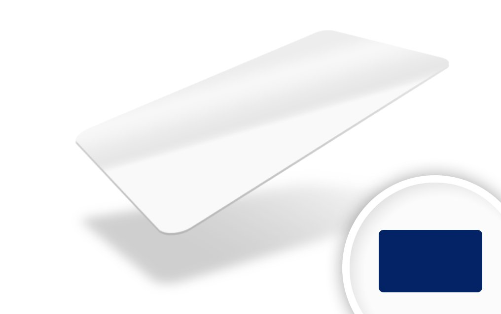 An image of PVC Cards Plain White 760 micron CR80 - FOTODEK - Pack of 100