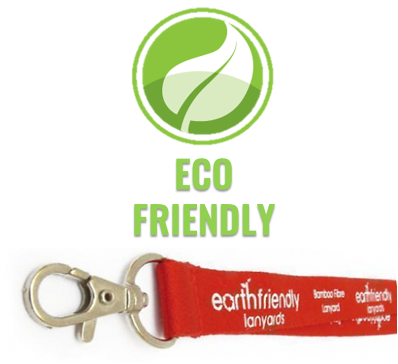 An image of 15mm Bamboo Fibre Personalised Eco Lanyards