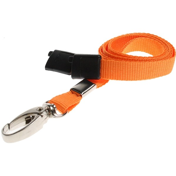 An image of 10mm Breakaway Lanyard with Metal Lobster Clip - pack of 100