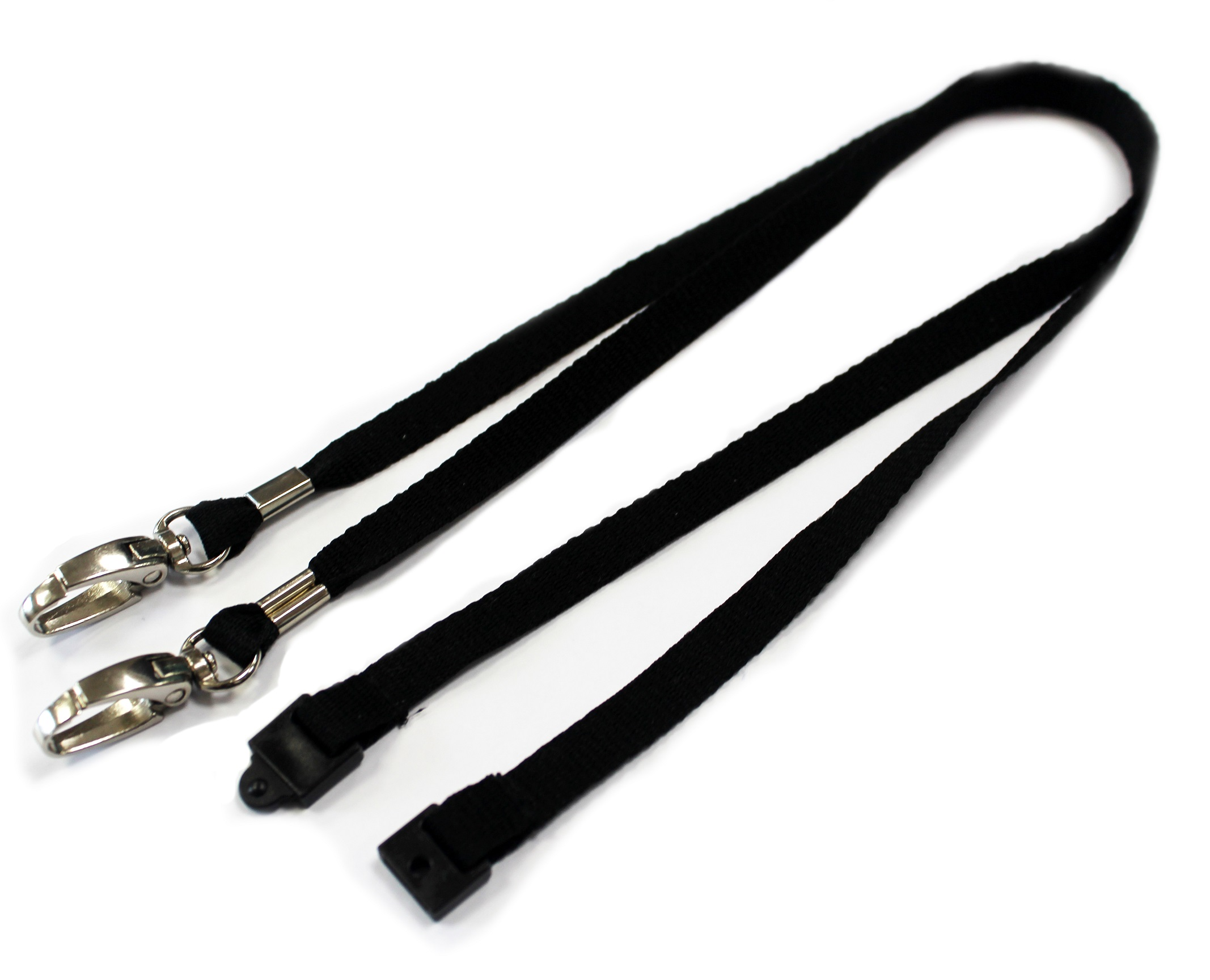An image of 10mm Open Ended Plain Lanyard with Dual Lobster Clips - Pack of 100