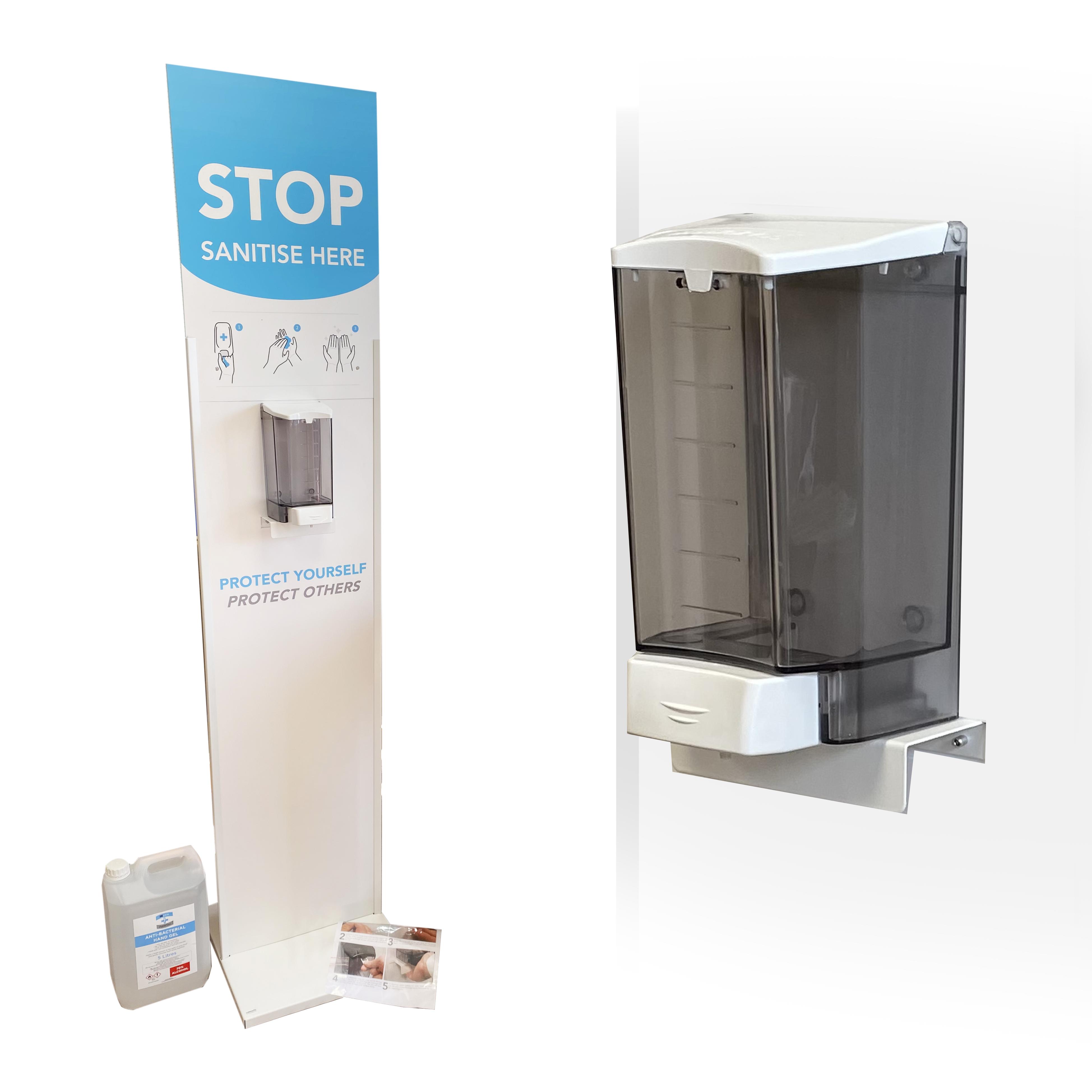 Hand sanitising station