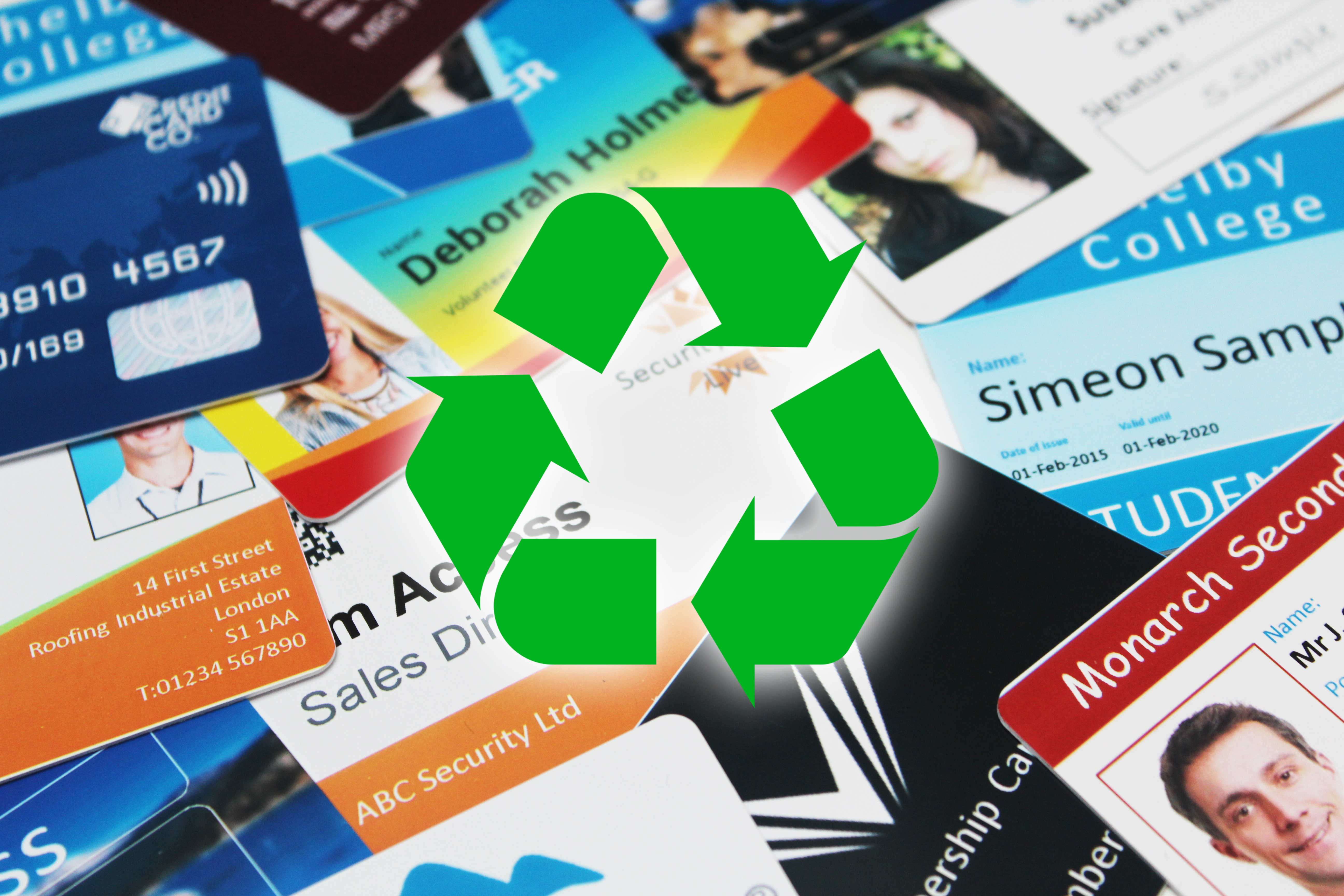 An image of Secure Plastic Card Recycling