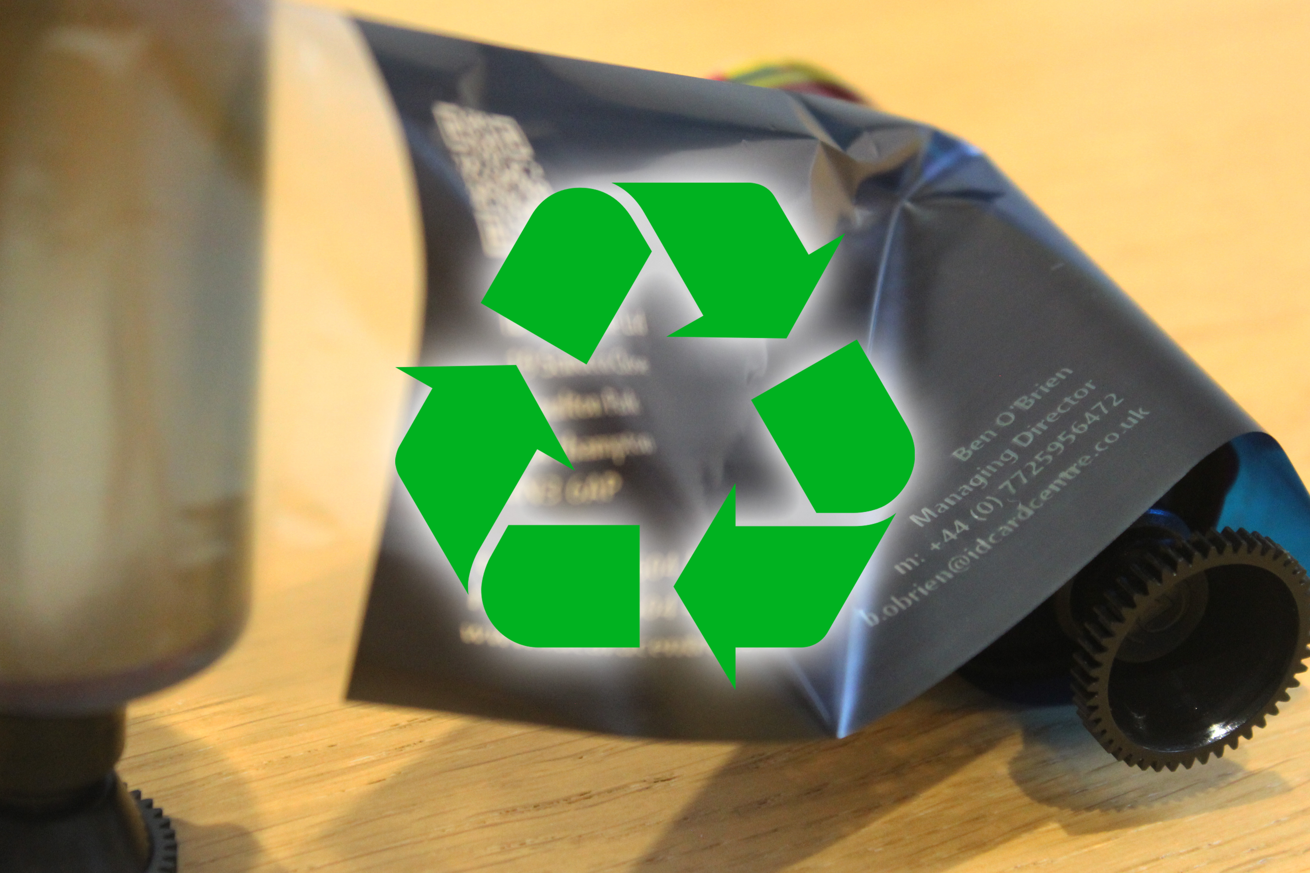 An image of Secure ID Card Printer Ribbon Recycling