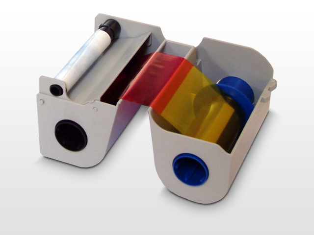 An image of Fargo Full Colour Ribbon with Cleaning Roller YMCKOK 44210