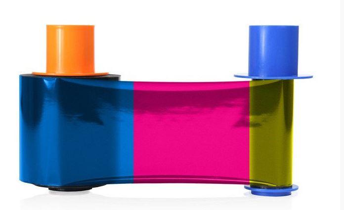 An image of Fargo YMCKOK Full Colour Black Reverse Printer Ribbon 45210
