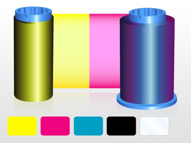 An image of Javelin YMCKO 5 Panel Colour Printer Ribbon 61134501