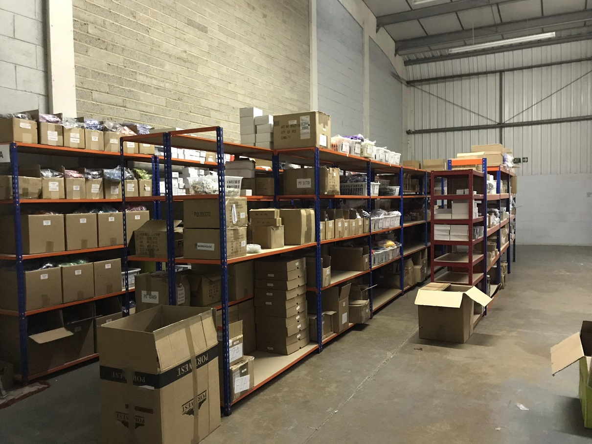 New warehouse racking up with stock